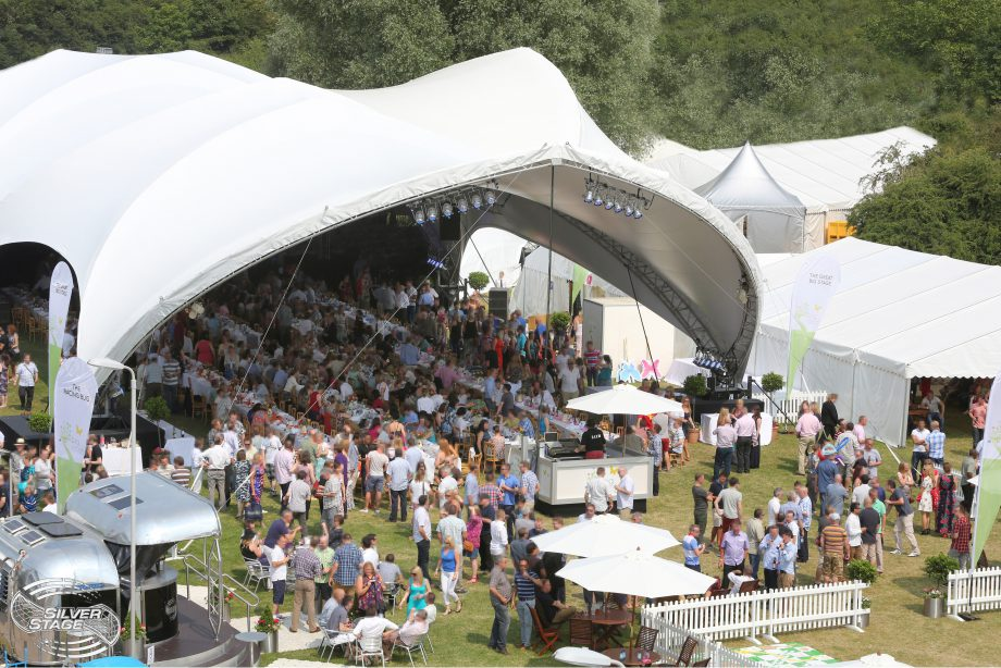large marquee hire - providing shade with style