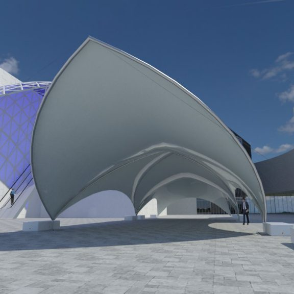 S1000 Duospan saddlespan the perfect corporate temporary structure