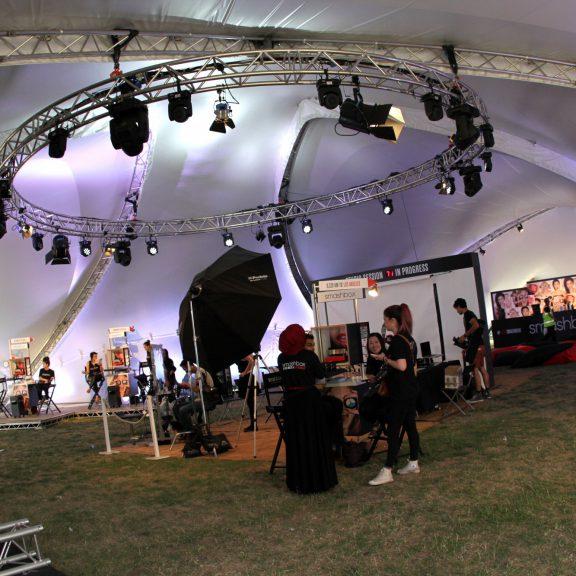 S2000 Trispan saddlespan concert temporary event structure