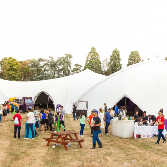 S5000 4Y Saddlespan closed the perfect outdoor corporate event structure