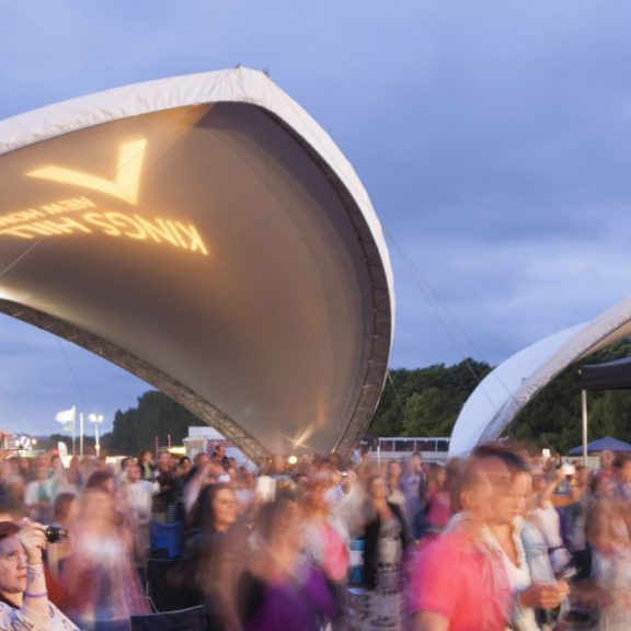 S5000 Saddlespan outdoor event structure: Two canopies