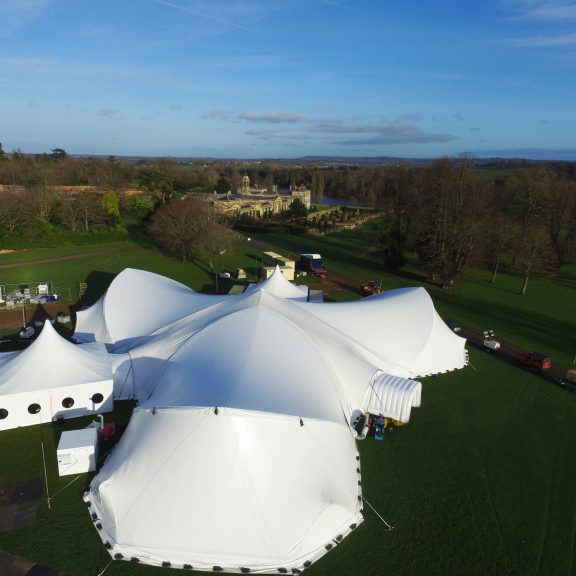 5mx5m 10x10m clearspan marquee perfect outdoor structure with alternative Trispan saddle span marquee