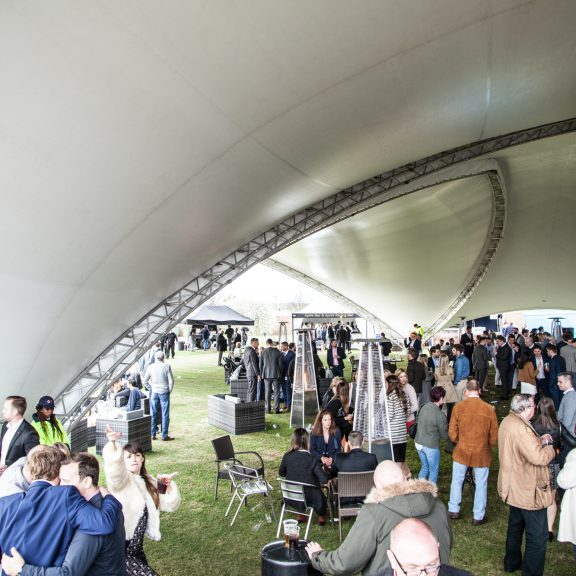 S5000 Trispan saddlespan Open at Newmarket Racecourse perfect temporary outdoor structure
