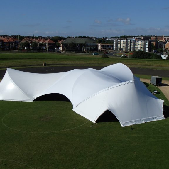 S5000 Trispan saddlespan closed perfect corporate temporary outdoor structure
