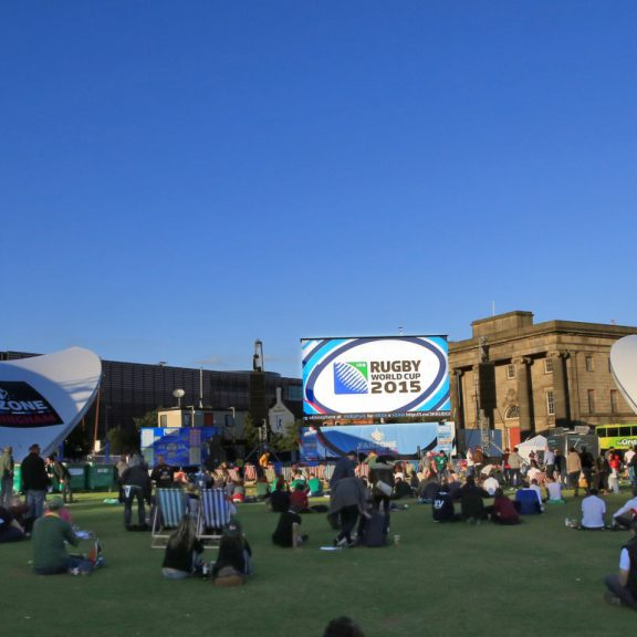 S5000SL Saddlespan outdoor sports structure at the rugby world cup