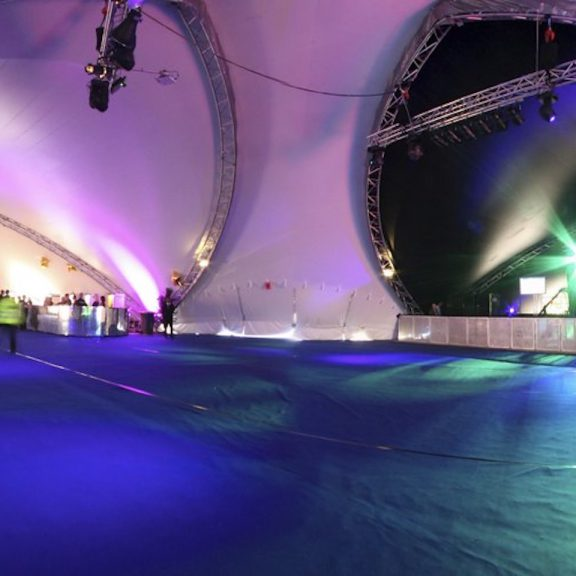 Septaspan saddlespan closed corporate outdoor temporary event structure