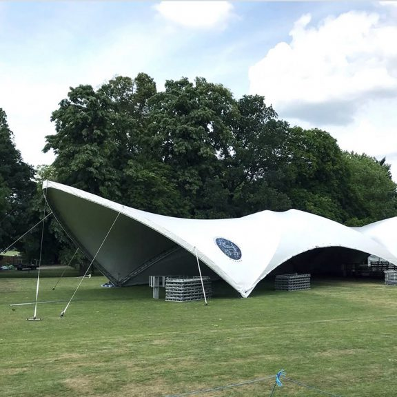 S2000 Duospan Saddlespan concert an ideal outdoor temporary structure